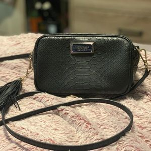 Victoria's Secret Black Snakeskin Crossbody NWOT